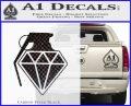 Diamond JDM Grenade D1 Decal Sticker Carbon FIber Black Vinyl 120x97