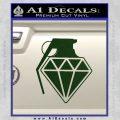 Diamond JDM Grenade D1 Decal Sticker Dark Green Vinyl 120x120
