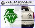 Diamond JDM Grenade D1 Decal Sticker Green Vinyl Logo 120x97