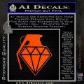 Diamond JDM Grenade D1 Decal Sticker Orange Emblem 120x120