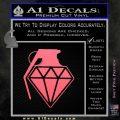 Diamond JDM Grenade D1 Decal Sticker Pink Emblem 120x120