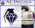 Diamond JDM Grenade D1 Decal Sticker PurpleEmblem Logo 120x97