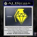 Diamond JDM Grenade D1 Decal Sticker Yellow Laptop 120x120