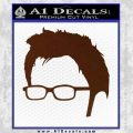 Doctor Who 10th Profile Decal Sticker BROWN Vinyl 120x120