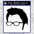 Doctor Who 10th Profile Decal Sticker Black Vinyl 120x120