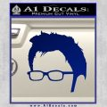 Doctor Who 10th Profile Decal Sticker Blue Vinyl 120x120