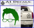 Doctor Who 10th Profile Decal Sticker Green Vinyl Logo 120x97