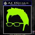 Doctor Who 10th Profile Decal Sticker Lime Green Vinyl 120x120