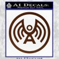 Doctor Who Archangel Network Logo Decal Sticker BROWN Vinyl 120x120