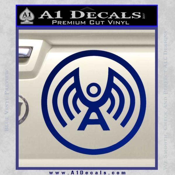 Doctor Who Archangel Network Logo Decal Sticker Blue Vinyl