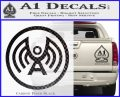 Doctor Who Archangel Network Logo Decal Sticker Carbon FIber Black Vinyl 120x97