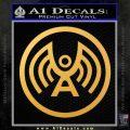 Doctor Who Archangel Network Logo Decal Sticker Gold Vinyl 120x120