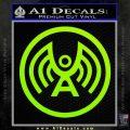 Doctor Who Archangel Network Logo Decal Sticker Lime Green Vinyl 120x120