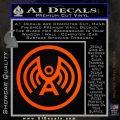 Doctor Who Archangel Network Logo Decal Sticker Orange Emblem 120x120
