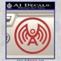 Doctor Who Archangel Network Logo Decal Sticker Red 120x120