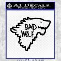 Doctor Who Bad Wolf House Of Stark Game Of Thrones D2 Decal Sticker Black Vinyl 120x120
