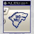 Doctor Who Bad Wolf House Of Stark Game Of Thrones D2 Decal Sticker Blue Vinyl 120x120