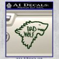 Doctor Who Bad Wolf House Of Stark Game Of Thrones D2 Decal Sticker Dark Green Vinyl 120x120
