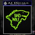 Doctor Who Bad Wolf House Of Stark Game Of Thrones D2 Decal Sticker Lime Green Vinyl 120x120