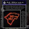 Doctor Who Bad Wolf House Of Stark Game Of Thrones D2 Decal Sticker Orange Emblem 120x120