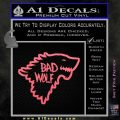 Doctor Who Bad Wolf House Of Stark Game Of Thrones D2 Decal Sticker Pink Emblem 120x120