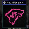 Doctor Who Bad Wolf House Of Stark Game Of Thrones D2 Decal Sticker Pink Hot Vinyl 120x120