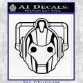 Doctor Who Cybermen Decal Sticker D1 Black Vinyl 120x120
