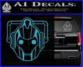 Doctor Who Cybermen Decal Sticker D1 Light Blue Vinyl 120x97