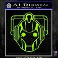 Doctor Who Cybermen Decal Sticker D1 Lime Green Vinyl 120x120