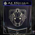 Doctor Who Cybermen Decal Sticker D1 Metallic Silver Emblem 120x120