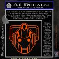 Doctor Who Cybermen Decal Sticker D1 Orange Emblem 120x120