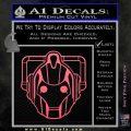 Doctor Who Cybermen Decal Sticker D1 Pink Emblem 120x120