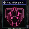 Doctor Who Cybermen Decal Sticker D1 Pink Hot Vinyl 120x120