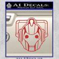 Doctor Who Cybermen Decal Sticker D1 Red 120x120