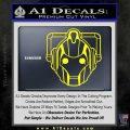 Doctor Who Cybermen Decal Sticker D1 Yellow Laptop 120x120