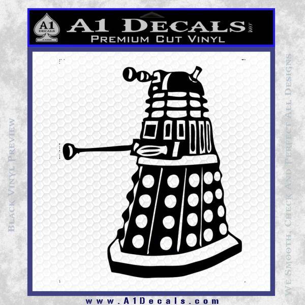 Doctor Who Dalek Decal Sticker D1 Black Vinyl
