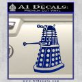 Doctor Who Dalek Decal Sticker D1 Blue Vinyl 120x120