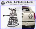 Doctor Who Dalek Decal Sticker D1 Carbon FIber Black Vinyl 120x97