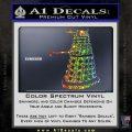 Doctor Who Dalek Decal Sticker D1 Glitter Sparkle 120x120