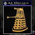 Doctor Who Dalek Decal Sticker D1 Gold Vinyl 120x120