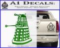 Doctor Who Dalek Decal Sticker D1 Green Vinyl Logo 120x97