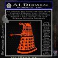 Doctor Who Dalek Decal Sticker D1 Orange Emblem 120x120