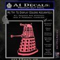 Doctor Who Dalek Decal Sticker D1 Pink Emblem 120x120