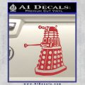 Doctor Who Dalek Decal Sticker D1 Red 120x120