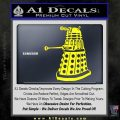 Doctor Who Dalek Decal Sticker D1 Yellow Laptop 120x120