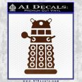 Doctor Who Dalek Decal Sticker D2 BROWN Vinyl 120x120