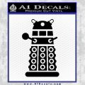 Doctor Who Dalek Decal Sticker D2 Black Vinyl 120x120