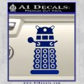Doctor Who Dalek Decal Sticker D2 Blue Vinyl 120x120