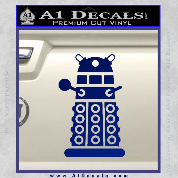 Doctor Who Dalek Decal Sticker D2 Blue Vinyl