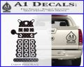 Doctor Who Dalek Decal Sticker D2 Carbon FIber Black Vinyl 120x97